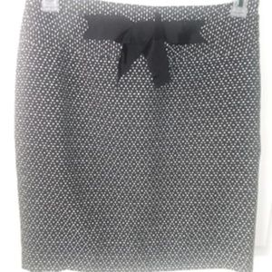 Womens LOFT Skirt Dots Size 4